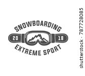 snowboarding emblems  labels... | Shutterstock .eps vector #787728085