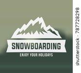 snowboarding emblems  labels... | Shutterstock .eps vector #787728298