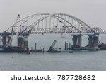 the kerch strait bridge... | Shutterstock . vector #787728682