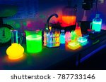 vials with lightning chemicals... | Shutterstock . vector #787733146