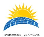 the solar battery. | Shutterstock .eps vector #787740646
