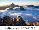autumn in mountains. photo of... | Shutterstock . vector #787745722