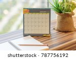 notebook diary with pencil on... | Shutterstock . vector #787756192