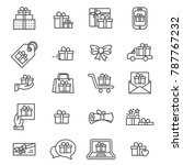 icons vector gitf boxes. | Shutterstock .eps vector #787767232