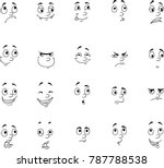set of different emotions.... | Shutterstock .eps vector #787788538