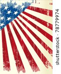 american poster. a grunge... | Shutterstock .eps vector #78779974