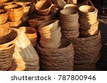 made baskets shop.there are... | Shutterstock . vector #787800946