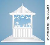 puppet show paper art style ... | Shutterstock .eps vector #787806355