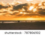 silhouettes of people enjoy... | Shutterstock . vector #787806502