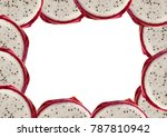 oval frame folded round piece... | Shutterstock . vector #787810942