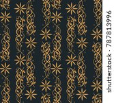 seamless floral pattern   Shutterstock .eps vector #787813996