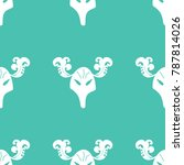 seamless pattern mask with horns   Shutterstock .eps vector #787814026