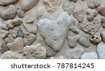 Heart Stones On The Beach