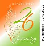 indian happy republic day.... | Shutterstock .eps vector #787815328