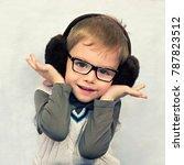 portrait of a little boy in fur ...   Shutterstock . vector #787823512