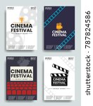 movie retro posters and flyer... | Shutterstock .eps vector #787824586