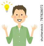 young man  papa  inspiration | Shutterstock .eps vector #787828072
