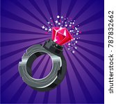 magical ring with crystal. game ...