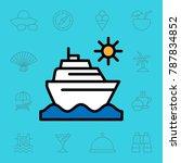 set of travel icons. vector... | Shutterstock .eps vector #787834852