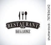 black restaurant logo | Shutterstock .eps vector #787836142