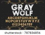 vintage font handcrafted vector ... | Shutterstock .eps vector #787836856