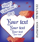 valentine's day sticker | Shutterstock .eps vector #787837132