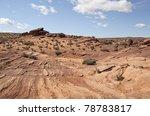 horseshoe bend scenic viewpoint page arizona usa - stock photo