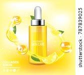 lemon collagen vitamin skin... | Shutterstock .eps vector #787839025
