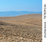 desolate infinity of the rocky... | Shutterstock . vector #787839136