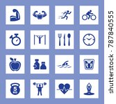 fitness vector icon set. eps 10. | Shutterstock .eps vector #787840555