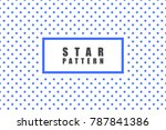 star objects vector pattern.... | Shutterstock .eps vector #787841386