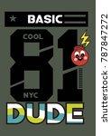 new york basic cool dude t... | Shutterstock .eps vector #787847272