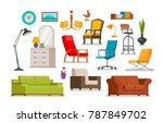 interior  furnishings ...   Shutterstock .eps vector #787849702