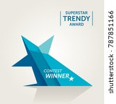 trendy star shaped vector award.... | Shutterstock .eps vector #787851166