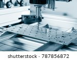 cnc milling machine working ... | Shutterstock . vector #787856872