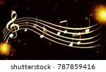 a beautiful musical score | Shutterstock . vector #787859416
