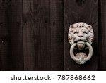a dark black wooden background... | Shutterstock . vector #787868662