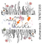 thanksgiving greeting card... | Shutterstock .eps vector #787872355