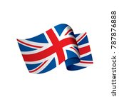 flag of the united kingdom ... | Shutterstock .eps vector #787876888