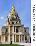eglise du dome les invalides or ... | Shutterstock . vector #787879552