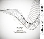 abstract wavy dynamic digital... | Shutterstock .eps vector #787880032
