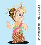 thai girl dancing central or... | Shutterstock .eps vector #787884166