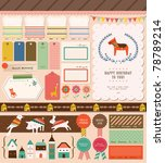 sweet scrapbook elements.... | Shutterstock .eps vector #78789214