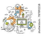 flat colorful design concept... | Shutterstock .eps vector #787892218