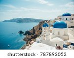traditional view of the island... | Shutterstock . vector #787893052