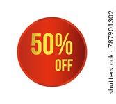 50  off sale discount banner.... | Shutterstock .eps vector #787901302