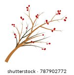 branch of a hawthorn with... | Shutterstock .eps vector #787902772