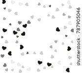 hearts confetti  bright...   Shutterstock .eps vector #787905046