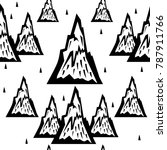 seamless pattern of mountains | Shutterstock .eps vector #787911766