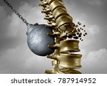 spine pain and spinal ache and...   Shutterstock . vector #787914952
